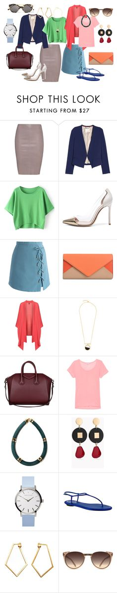 """""""light summer"""" by ngfontenelle on Polyvore featuring moda, Jitrois, Gianvito Rossi, Chicwish, Chloé, Manon Baptiste, Bjørg, Givenchy, Splendid e Lizzie Fortunato Jewels"""