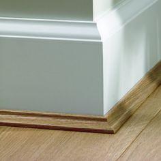 Plinten in RAL9010 kleur verschillende diktes en breedtes.Op www.cavallo-floors.nl