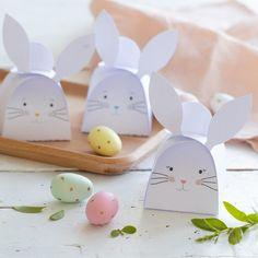 Fabriquer un joli panier pour la chasse aux œufs de Pâques Favor Boxes, Illustration, Place Cards, Cricut, Easter, Place Card Holders, Animation, Communion, Artworks