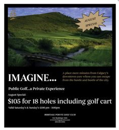 Golf our beautiful course in August! Day Left, Golf Carts, Public, News, Beautiful, Golf Cart Bodies