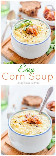 Easy Corn Soup can b