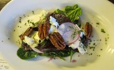 Roasted Beet & Spinach Salad at Kitchen on Common in Belmont, Mass. | The Economical Eater #vegetarian