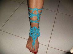 Pulseiras de pé feitas á mão de crochét Braga (São José De São Lázaro E São João Do Souto) - imagem 6