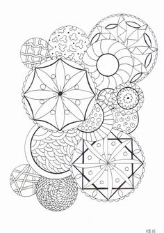 Adult colouring page  circles by KafsKrafts on Etsy