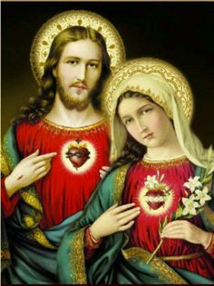 Sacred Heart of Jesus and Immaculate Heart of Mary.