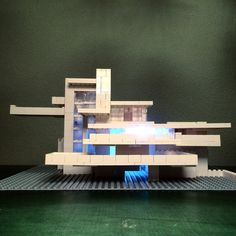 Falling Water by Frank Lloyd Wright recreated in Lego by Arndt Schlaudraff