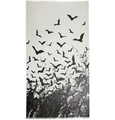 Horiyoshi the Third Bat-Print Silk and Cashmere-Blend Scarf  | MR PORTER