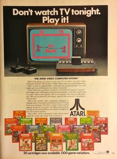 Buttered Pop Culture - A 1978 ad for Atari video games Retro Advertising, Retro Ads, Vintage Advertisements, Vintage Ads, Vintage Stuff, Vintage Video Games, Retro Video Games, Atari Video Games, Software