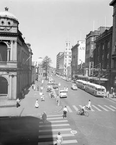 Newcastle - Hunter Street, main shopping and business centre of Newcastle, an important port and industrial city in New South Wales - The building on the left is the Newcastle Post Office. Learn more about Australia Post's history here: http://auspo.st/1C0gYkJ