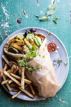 Grilled Zucchini Gyros with Sun-Dried Tomato Tzatziki