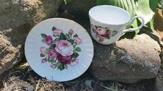 Staffordshire, Royale Garden,  Made In England, Tea Cup And Saucer