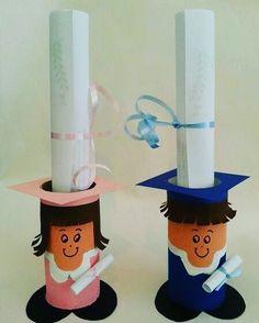 Graduation crafts for kids Graduation Crafts, Kindergarten Graduation, Graduation Day, Kids Crafts, Preschool Activities, Diy And Crafts, Toilet Paper Roll Crafts, Paper Crafts, Diy For Kids