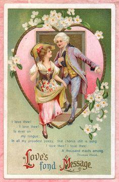 Wonderful vintage card for Valentines