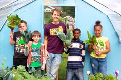 Here's a killer chard and dino kale salad made with kids in Flint, MI!