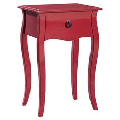 Found it at Wayfair - Lido End Table in Red http://www.wayfair.com/daily-sales/p/Hollywood-Hideaway%3A-Glam-Bedroom-Lido-End-Table-in-Red~GDEC1040~E23212.html?refid=SBP.rBAZEVXobuUiwiTQqEjtAvN2Mvl-CUsWlpIEfifgSvQ