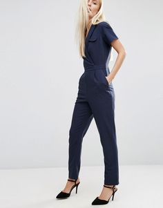 ASOS+Wrap+Jumpsuit+With+Pocket+and+Short+Sleeve