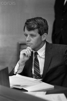 Robert F. Kennedy Senator Robert F. Kennedy during a meeting.  Date Photographed:10 May 1966