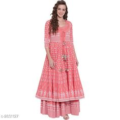 Checkout this latest Kurtis Product Name: *Divena Women's Cotton Ethnic Motif Printed Jacket Kurti* Fabric: Cotton Pattern: Printed Combo of: Single Sizes: XS, S, M, L, XL, XXL, XXXL, 4XL, 5XL, 6XL, 7XL Country of Origin: India Easy Returns Available In Case Of Any Issue   Catalog Rating: ★4.3 (3524)  Catalog Name: Divena Women's Cotton Printed Flared Kurtis CatalogID_384382 C74-SC1001 Code: 9502-2831127-8406