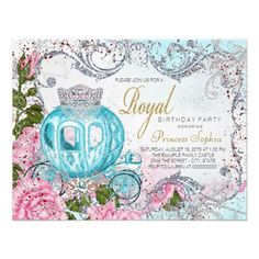 Fairytale Princess Birthday Party Invitation