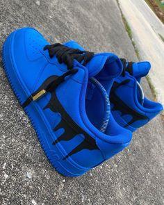 """Drip"" Custom Nike Air Force 1 ""Drip"" – Lowtop Custom Nike As for all custom made shoes, each match is hand painted and [. Cute Nike Shoes, Cute Nikes, Cute Sneakers, Shoes Sneakers, Women's Shoes, Shoes Style, Converse Shoes, Nike Shoes Blue, Green Sneakers"