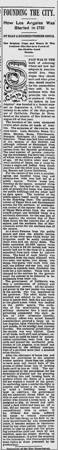 Jan. 1, 1892, Founding of Los Angeles