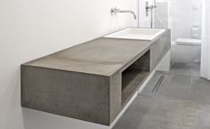 Waschtisch aus Beton Mehr