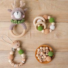 Wooden Animal Toys, Wooden Baby Toys, Crochet Deer, Crochet Toys, Crochet Baby, Free Crochet, Toddler Toys, Kids Toys, Montessori Baby Toys