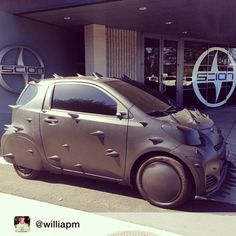 Scion iQ - not sure how else to describe it - MadMax?