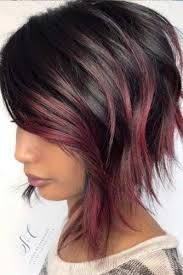50 Stylish Layered Bob Hairstyles Layered bob hairstyle for dark wavy hair. Such hairstyles can add a great deal of movement and volume to any hair length or type. Layered Bob Hairstyles, Layered Hair, Pretty Hairstyles, Stylish Hairstyles, Hairstyles 2018, Medium Hair Styles, Curly Hair Styles, Coloured Hair, Short Hair Cuts