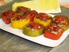 A new twist on stuffed peppers! In this version, bell pepper rings are filled with a tasty meatloaf mixture, browned in a pan, then baked until cooked through.
