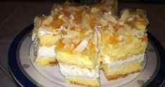 pl :: Ciasto z serków Danio Polish Recipes, Polish Food, Smoothie, Waffles, French Toast, Cheesecake, Food And Drink, Cooking Recipes, Sweets