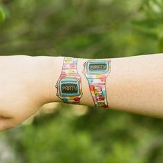 Party Watch designed by Julia Rothman for Tattly Temporary Tattoo