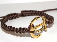 Armband mit Satinbänder und Anker von Luisa Ventocilla Shop auf DaWanda.com
