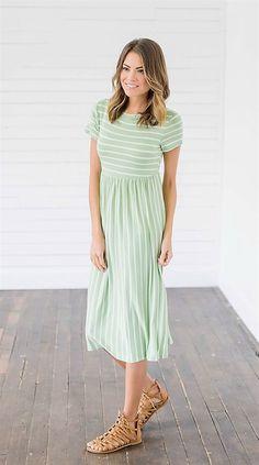 Contrast Stripe Quality Dress