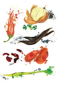 Food Illustration - Clair Rossiter illustration