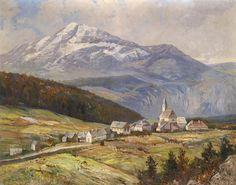 Mountain Landscape | Karl Vikas | oil painting #landscapepaintings #mountainpaintings Mountain Paintings, Mountain Landscape, Painting & Drawing, Landscape Paintings, Drawings, Oil, Landscape, Sketches, Drawing