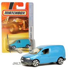 Matchbox Year 2007 MBX City Action Series 1:64 Scale Die Cast Metal Car # M2626 - #46 Light Blue 2006 VOLKSWAGEN CADDY Commercial Vehicle