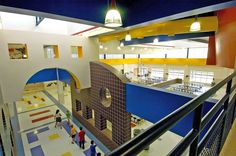 Joe K Bryant Elementary School | Claycomb Associates, Architects- cafeteria/common space ideas- like the cut out designs