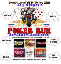 The VFW Post 280 Inaugural Poker Run 2015
