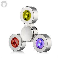 LifeMods LED Fidget Tri-Spinner EDC Toy For Adults & Kids | Made of Durable Stainless Steel W/ Bright Removable RGB LED Lights | Ease Anxiety & Stress, Treat ADHD Symptoms, Improve Focus & Learning - Fidget spinner (*Amazon Partner-Link)