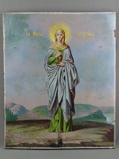 Антиквариат. Икона «Святая Мария Магдалина»