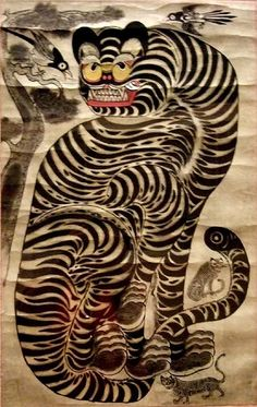 Tiger and Magpie Joseon period Korea 19th century
