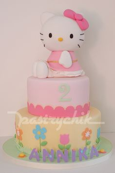 Hello Kitty Cake...Okay I'm not 2 but I must have a hello kitty birthday cake!