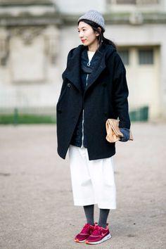 On the street at Paris Fashion Week. Photo: Imaxtree.