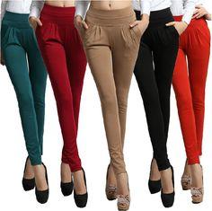 Barato 2015 calças de verão das mulheres moda corpo inteiro bolso Plus size 3XL solta calças harém esporte ocasional DF181, Compro Qualidade Calças diretamente de fornecedores da China:          >>  Clique aqui  para obter mais         Desconto           <<                &nb