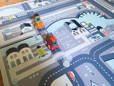 Car Play Mat Kids Rug Cars And Roads Pretend Play By LichiBlue