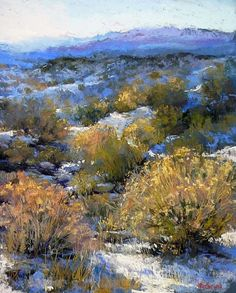 Road to Truchas, November by Margi Lucena Pastel ~ 20 x 16