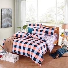 WWW.WINDEHOME.COM WHATSAPP:+86 17682342543 https://api.whatsapp.com/send?phone=8617682342543 EMAIL:kyo.liu@windehome.com  Supplier of quilt cover set, bed sheet set, quilt ,blanket ,bedspread,comforter from China.Various designs, Small MOQ, Good Price, Factory Direct, Quick Respond.  Wholesale 3PCS and4 PCS Cheap Light Weight Reversible Microfiber Duvet Cover Quilt Cover and Bed Sheet Bedding Set with Pillow Sham Factory Direct From China  Composition: 100% Microfiber 82GSM…