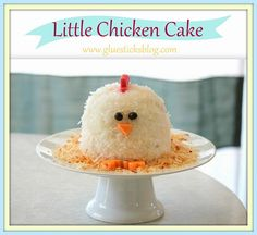 My baby is a year old! I wanted to make her a cute little cake to match her cute little personality. This chicken was probably the simplest cake I've ever made….and my favorite. …