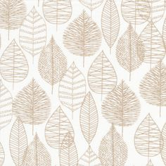 Line Leaf in Gray, Bark and Branch collection by Eloise Renouf for Cloud 9 Fabrics, Organic Fabric, Half Yard